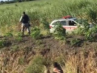 Homem é preso por assaltar caminhoneiro e trocar tiros com major