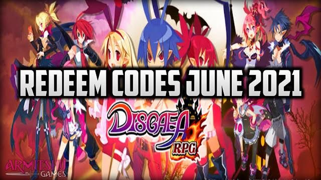 Disgaea rpg redeem codes june 2021