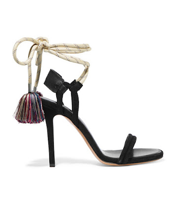 Isabel Marant Tasseled Leather Trimmed Suede Sandals