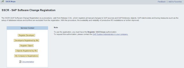 developer key sap