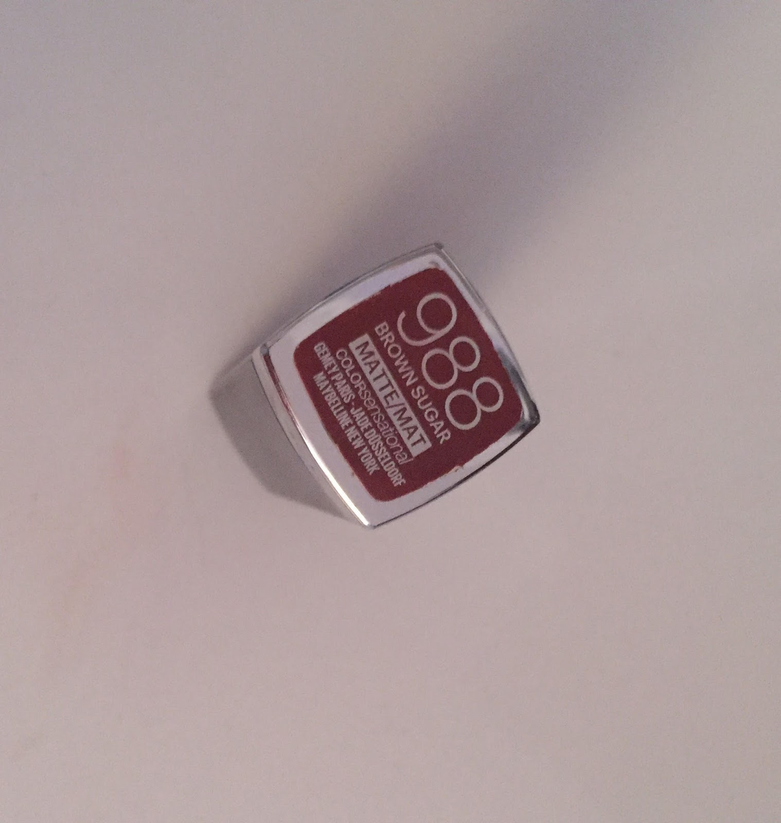 Menekşe Kokulu Blog Maybelline 988 Brown Sugar Mattemat Lipstick