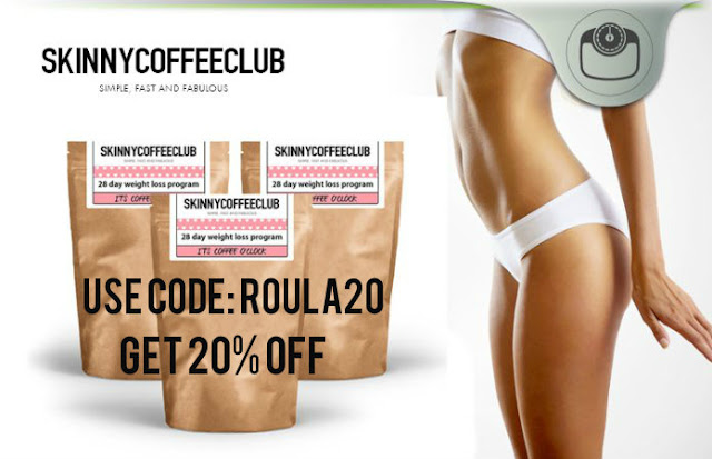 skinnycoffeeclub discount code ROULA20