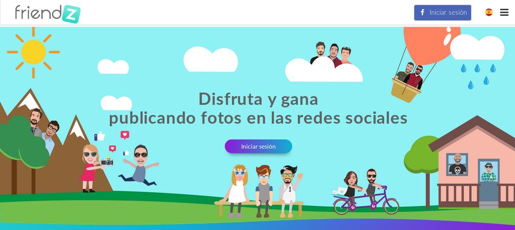 Friendz, ganar dinero por compartir tus fotografías en las redes sociales