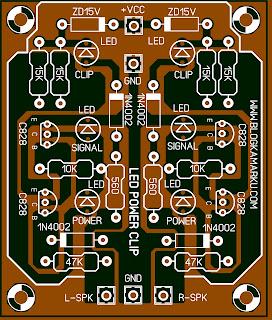 Cara Membuat Led Signal Clip dan Indicator amplifier