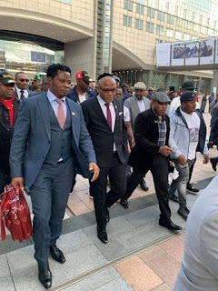 Breaking news.. IPOB Leader Nnamdi kanu and Deputy Uche Mefor shakes EU Parliament in Brussels