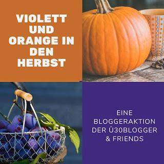 Violett und orange in den Herbst ü30Blogger
