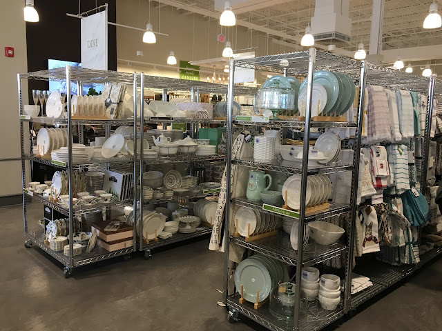 Racks of dishes at Homesense