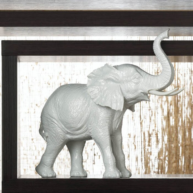 Lozano Ceramic Elephant Figurine