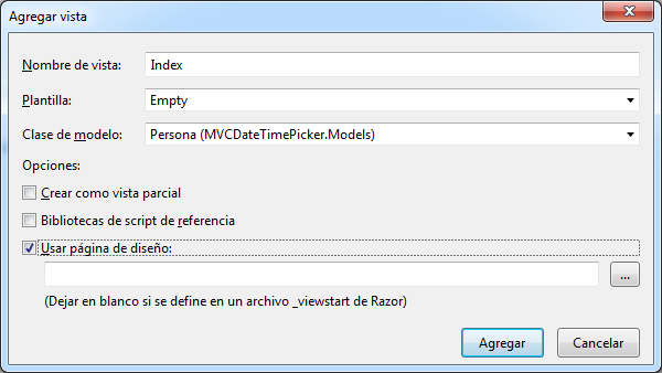 Crear vista Index con Persona como clase de modelo