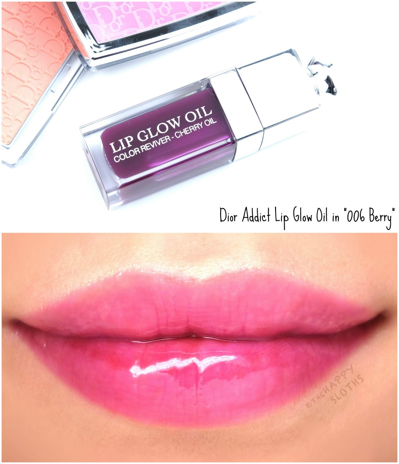 "Dior | Dior Addict Lip Glow Oil in ""006 Berry"": Review and Swatches"