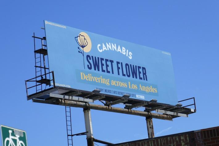Sweet Flower Cannabis delivered LA billboard