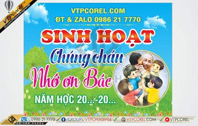 Phông nền Sinh hoạt chúng cháu nhớ Bác Hồ Chí Minh