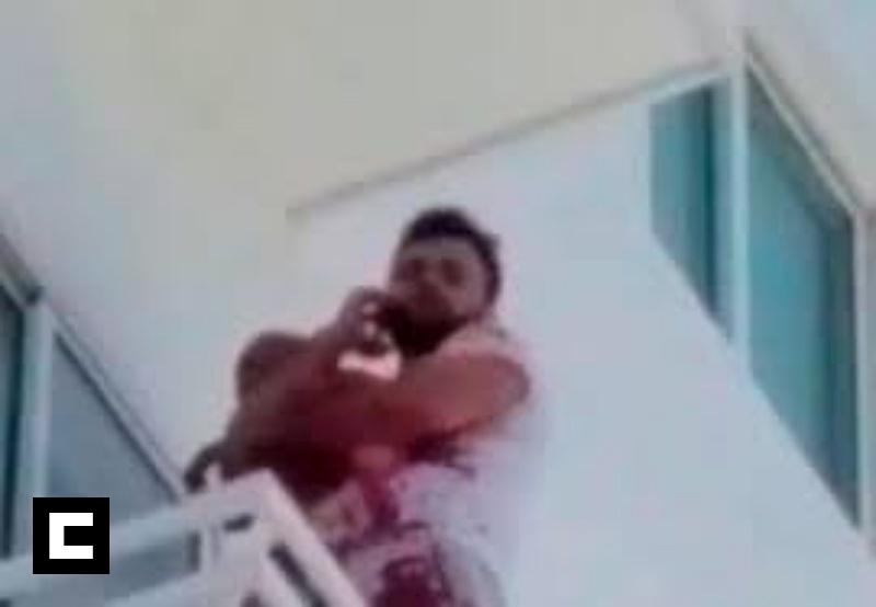 Revelan venezolano se lanzó de quinto piso con su bebé por deudas