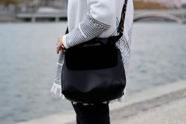 photo sac zara noir
