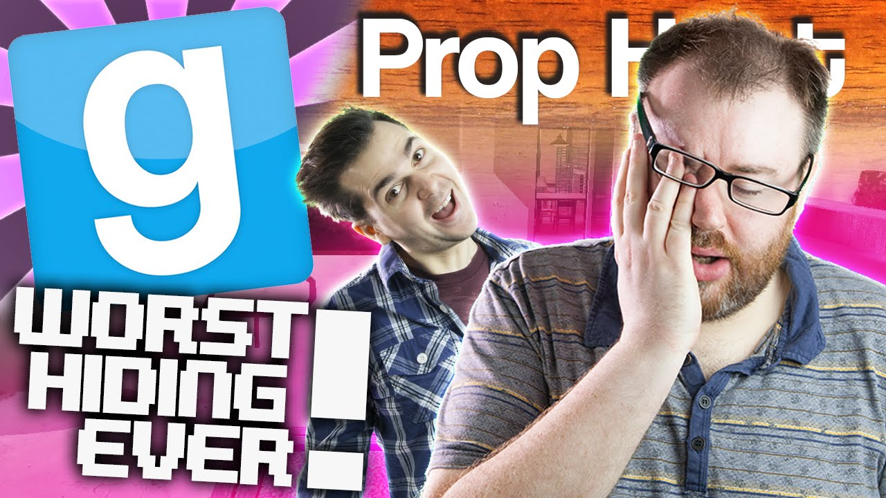 Gmod Prop Hunt - Get In The Pool! (Garry's Mod Funny Moments