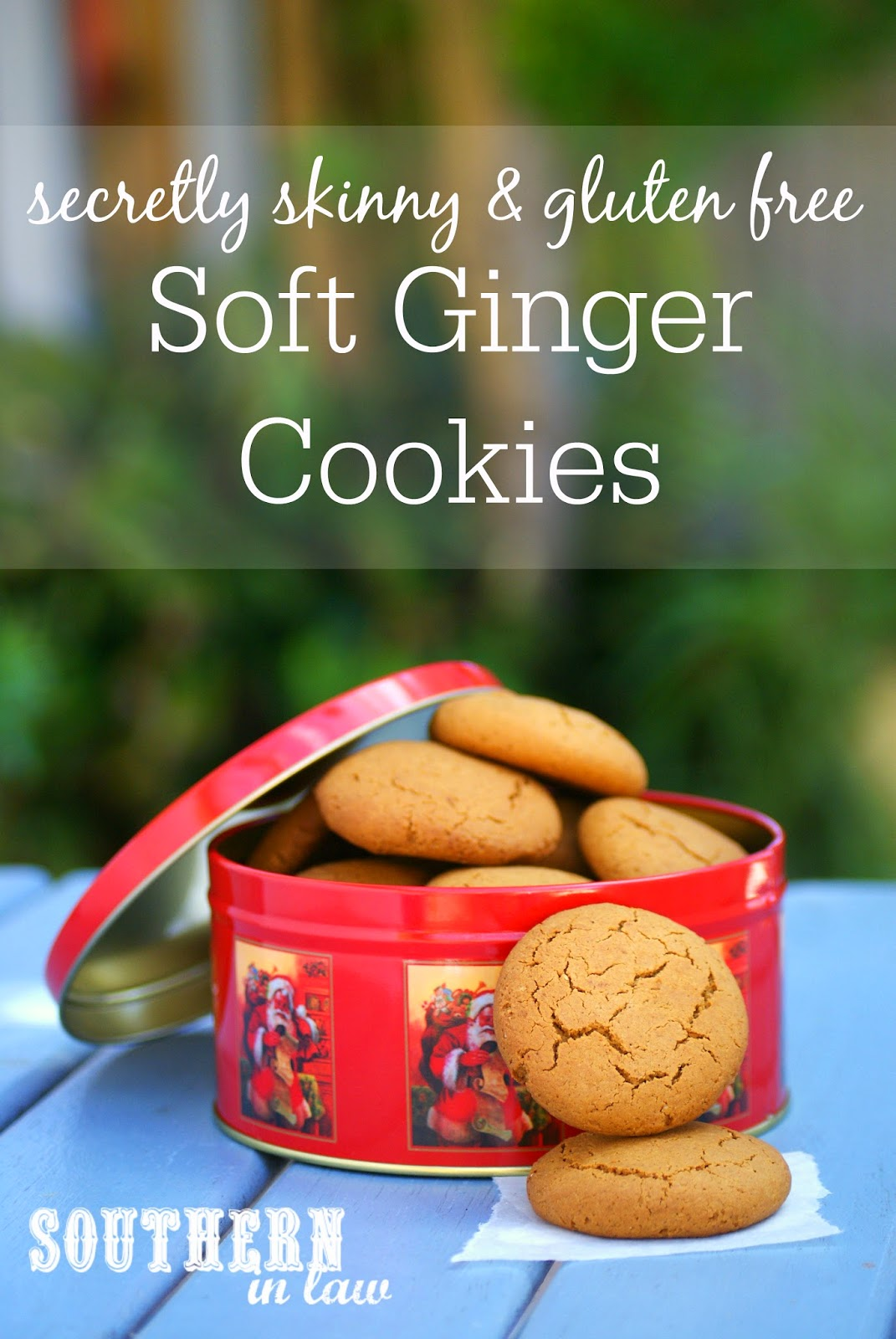 Secretly Skinny Ginger Cookies Recipe - Healthy Christmas Cookie Recipes, Healthy, Low Fat, Gluten Free, Low Sugar, Skinny Recipes, Gingernut Biscuits, Ginger Biscuits, Home made
