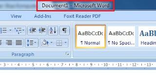bagian bagian microsoft word dan fungsinya
