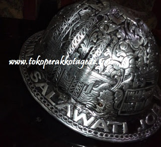 helm ukir alumunium- craft of aluminum metal