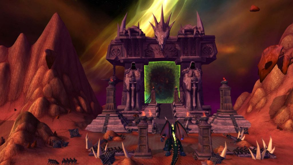 The Dark Portal on the Hellfire Peninsula. It was from here that the orcs began their invasion of Azeroth.
