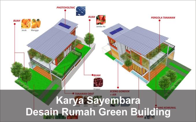desain rumah green building