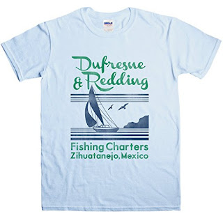 Shawshank Redemption, Dufresne and Redding Fishing Charters T Shirt, Shawshank Redemption Gifts and Merchandise, Stephen King Store