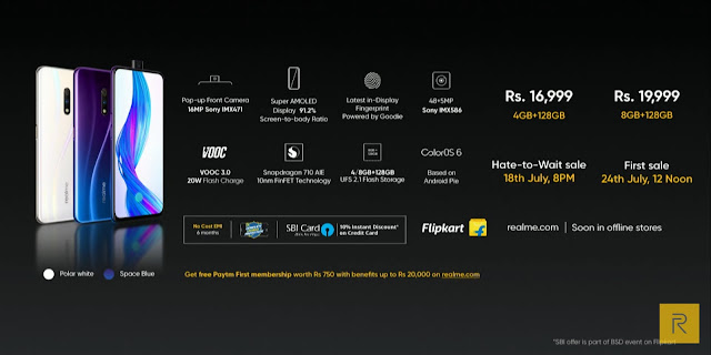 Realme X with pop-up selfie launched at Rs. 16,999