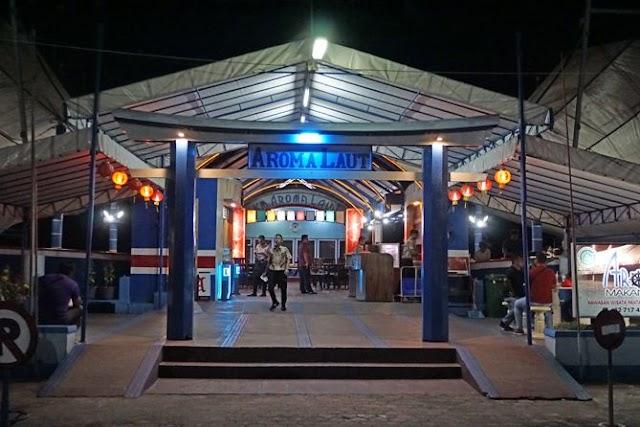 Makan Malam di Aroma Laut Restaurant Bangka
