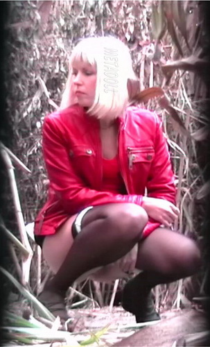 PissHunters 9059-9074 (Girls pee outdoors hidden camera. Hidden cam in public toilet)