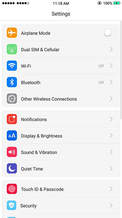 Oppo Theme: IOS 11 Theme