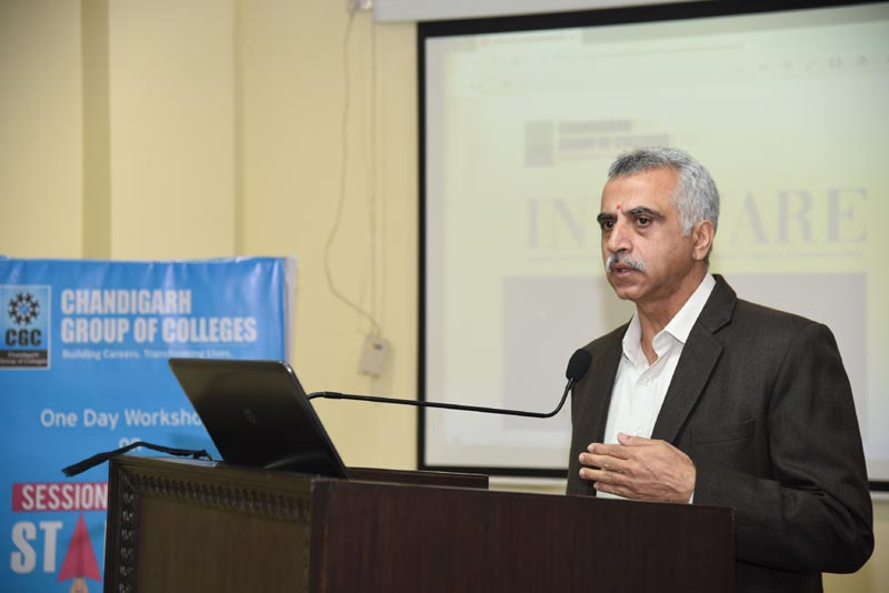 Sunil Chawla, DGM, Dept. Of Industries and Commerce delivering Speech on Start-ups at CGC Landran