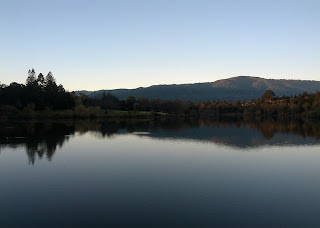 Lake Vasona just after sunrise.