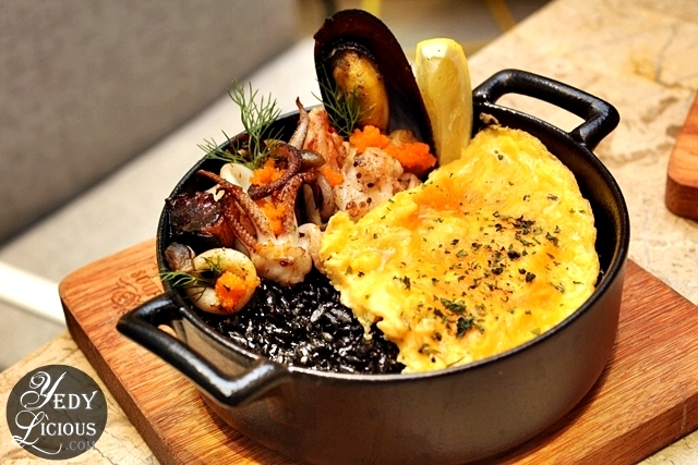 Squid Ink Rice at Le Petit Souffle