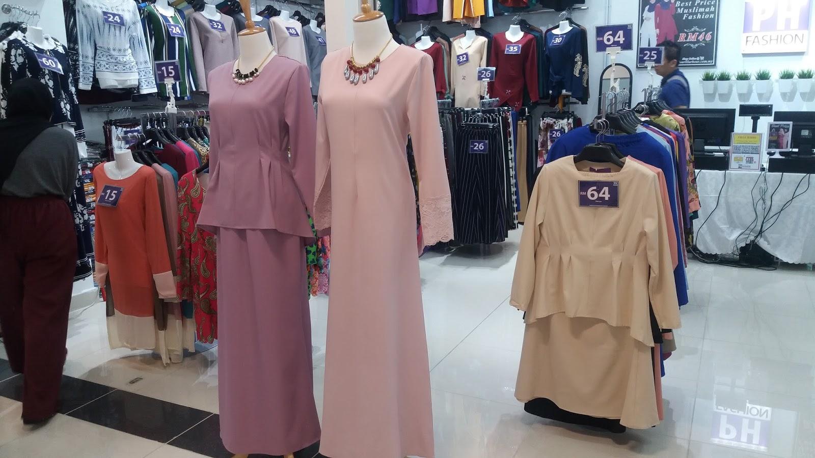 koleksi baju raya di kenanga qiya saad shopping baju raya