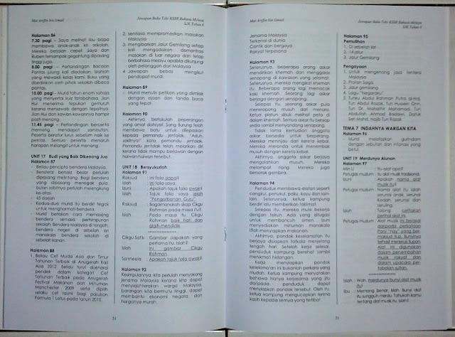 Panduan & Cadangan Jawapan Buku Teks BM Tahun 6