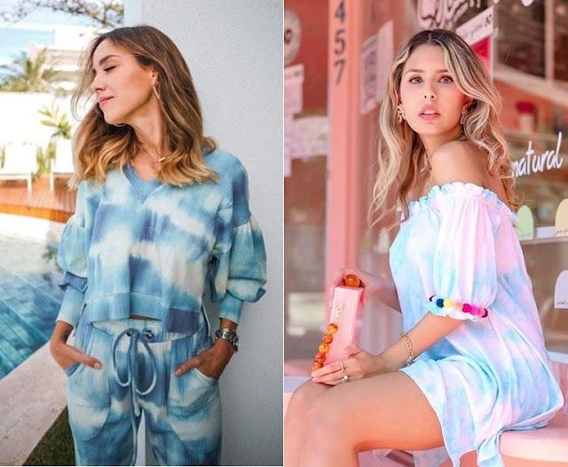 Looks inspiração com tie dye,Luisa Accorsi, Vanessa Tilley