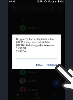 3 Cara Transfer Pulsa 3 Lewat Dial, SMS dan Aplikasi Bima+