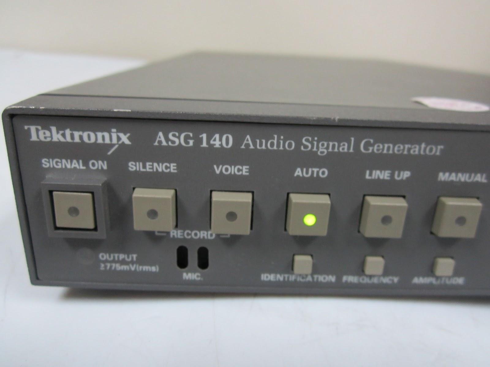 Audio Signal Generator : Tektronix asg audio signal generator ebay