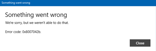 Windows Mail Error 0x8007040b