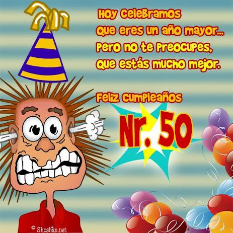 Feliz 50 cumpleaños