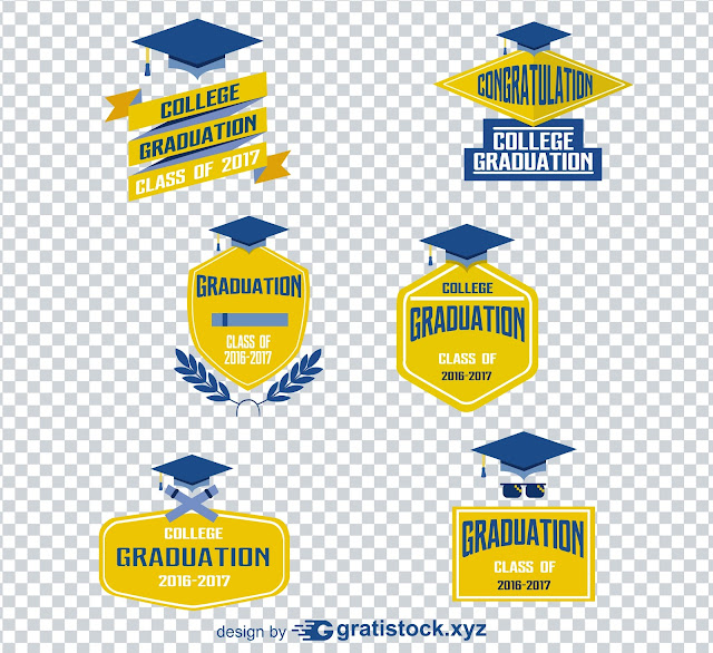 Free Download PSD OF Blue and Yellow Logos of Univercity