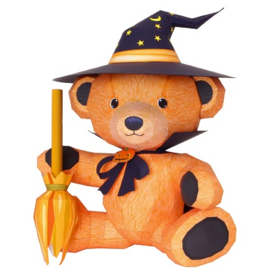 Halloween Teddy Bear Papercraft