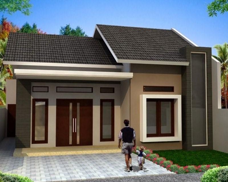 model rumah sederhana tapi bagus tampak minimalis