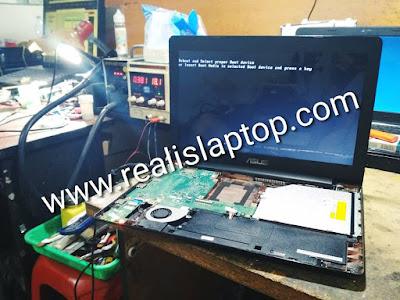 service laptop asus x453 mati total di malang