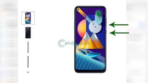 Screenshot Samsung M11 dengan Kombinasi Tombol