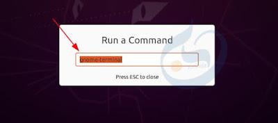 Alt + F2 to open the Run dialog box