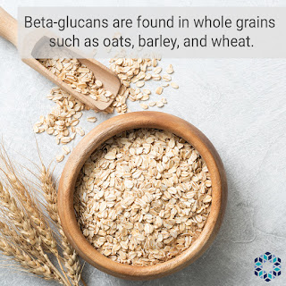 Beta-glucans in food whole grains