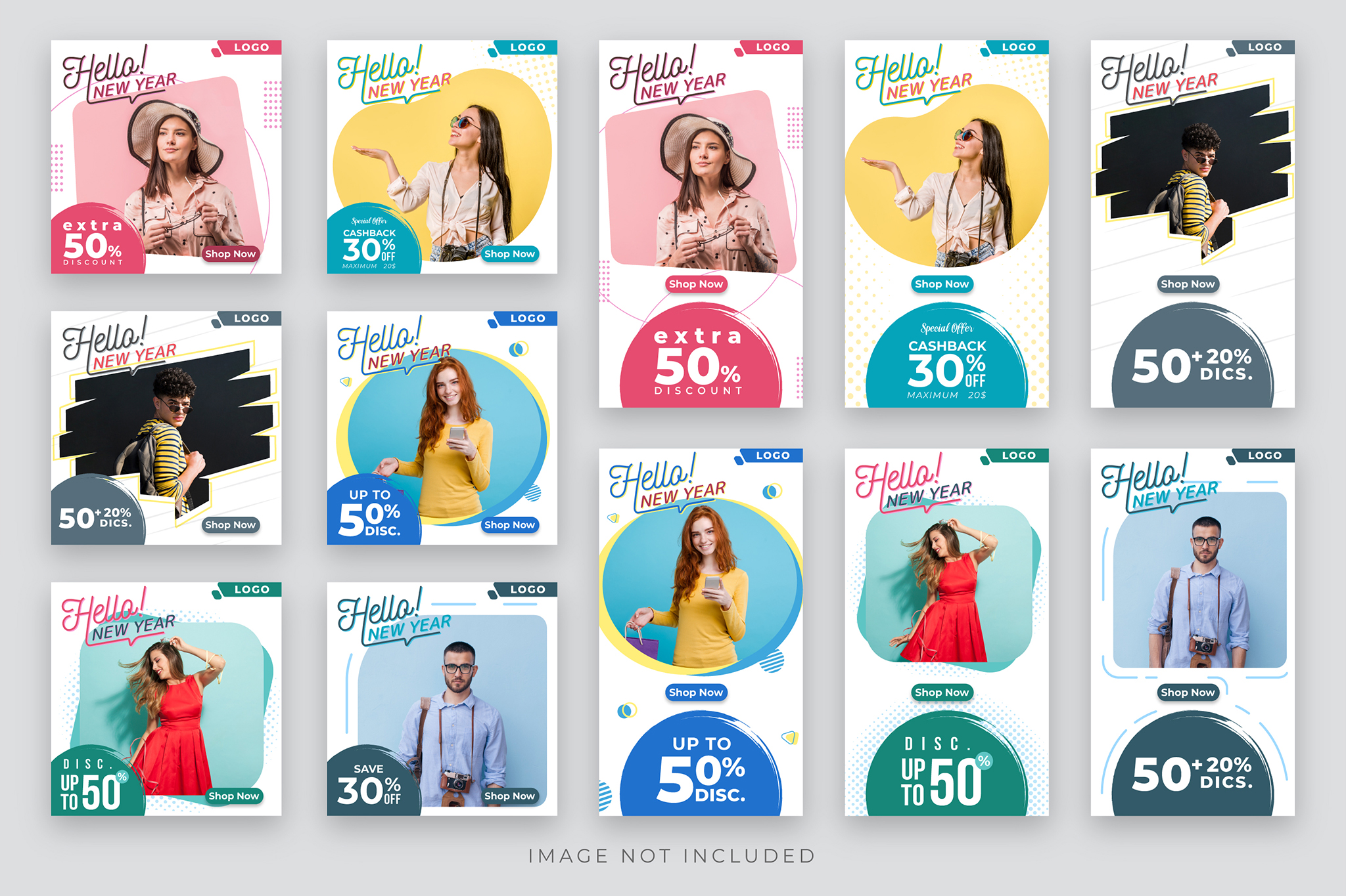 Download bundle for kids social, fashion and clothing banners in PSD - EPS vector format