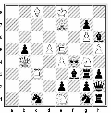 Problema de mate en 2 compuesto por Vasil Dyachuk (3ª Mención de Honor, Die Schwalbe 2002-04)