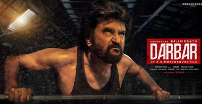 Darbar Movie First loo, Darbar Movie Poster