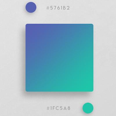 inspirasi warna gradient